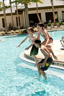 Fun at the Splash Waterpark Pool