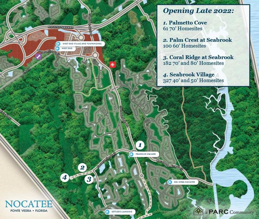 New Nocatee Neighborhoods 2022 Development
