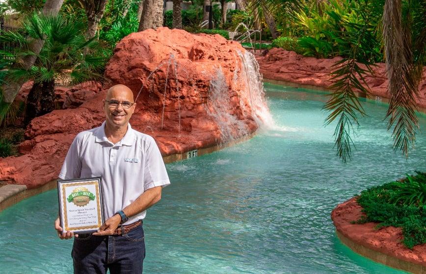 David Ray, Nocatee Community Manager, in Splash Waterpark